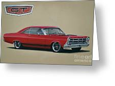 1967 Ford Fairlane Gt Greeting Card