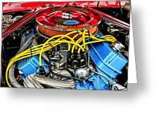 1967 Ford Molly Mustang Greeting Card