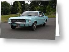 1967 Ford Mustang Watts Greeting Card