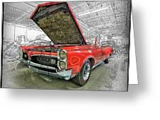 1967 Pontiac Gto American Muscle Car Greeting Card