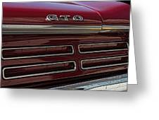 1967 Pontiac Gto Logo Greeting Card