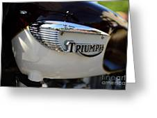 1967 Triumph Gas Tank 2 Greeting Card