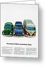 1967 Volkswagen Beetle Squareback And The Box Greeting Card