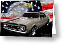 1968 Camaro Ss Tribute Greeting Card