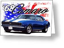 1968 Camaro Stars And Stripes Greeting Card