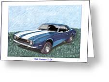1968 Chevrolet Camaro Z 28 Greeting Card