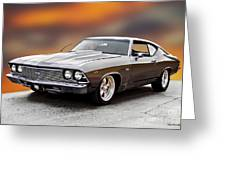 1968 Chevrolet Chevelle Ss L Greeting Card