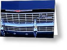 1968 Chevrolet Impala Ss Grille Emblem Greeting Card