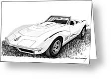 1968 Corvette Greeting Card