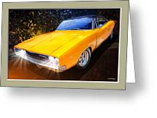 1968 Dodge Charger Coupe Greeting Card