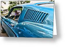 1968 Ford Mustang Fastback In Blue Greeting Card
