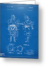 1968 Hard Space Suit Patent Artwork - Blueprint Greeting Card by Nikki Marie Smith