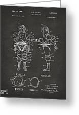 1968 Hard Space Suit Patent Artwork - Gray Greeting Card by Nikki Marie Smith