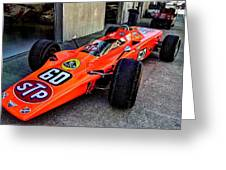 1968 Lotus 56 Turbine Indy Car #60 Angle Greeting Card