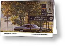 1968 Pontiac Gto - Woodward - The Great One By Pontiac Greeting Card