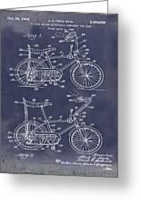 1968 Schwinn Stingray Patent In Blueprint Greeting Card