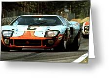 1969 24 Hours Of Le Mans Ford Gt40 First Place, Mixed Media  Greeting Card