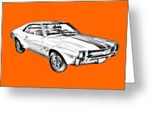 1969 Amc Javlin Car Illustration Greeting Card