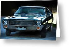 1969 Amx In Racing Green Greeting Card