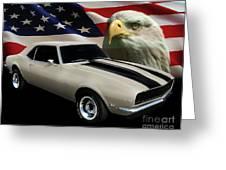 1969 Camaro Rs Tribute Greeting Card