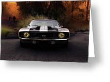 1969 Camaro Ss Greeting Card