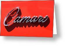1969 Chevrolet Camaro Z-28 302 Emblem -0152c Greeting Card