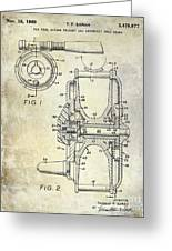 1969 Fly Reel Patent Greeting Card