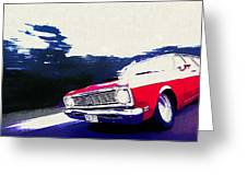 1969 Ford Falcon Futura Greeting Card
