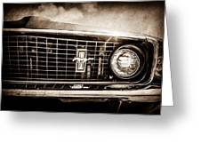 1969 Ford Mustang Grille Emblem -0129s Greeting Card