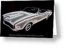 1969 Hurst Oldsmobile 455 Ho Electric Greeting Card