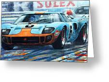 1969 Le Mans 24 Ford Gt 40 Ickx Oliver Winner  Greeting Card