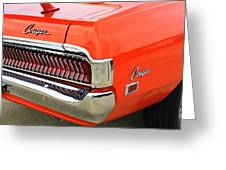 1969 Mercury Cougar Tail Light With Logos Greeting Card