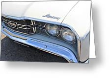 1969 Mercury Montego Mx Grille With Headlights And Logos Greeting Card