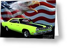 1969 Plymouth Road Runner Tribute Greeting Card