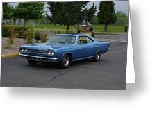 1969 Plymouth Roadrunner Green Greeting Card