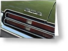 1969 Pontiac Gto Taillight Emblem Greeting Card