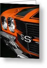 1970 Chevelle Ss396 Ss 396 Orange Greeting Card