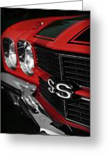 1970 Chevelle Ss396 Ss 396 Red Greeting Card