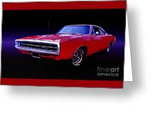 1970 Dodge Charger 500 Greeting Card