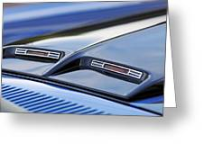 1970 Ford Mustang Gt Mach 1 Hood Greeting Card