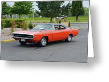 1970 Hemi Charger Rt Asher Greeting Card