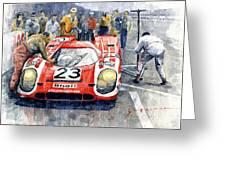 1970 Le Mans 24 Porsche917k Attwood Herrmann Winner  Greeting Card