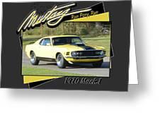 1970 Mach 1 Fellers Greeting Card