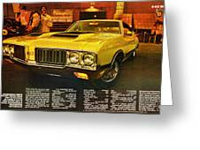 1970 Oldsmobile Cutlass 442 W-30 Greeting Card