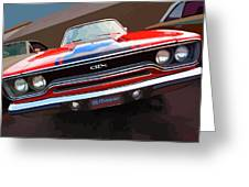 1970 Plymouth Gtx Vectorized Greeting Card