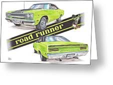 1970 Plymouth Road Runner Greeting Card