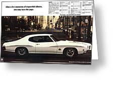 1970 Pontiac Gto The Judge  Greeting Card