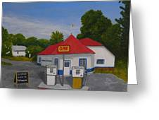 1970s Gas Station Greeting Card