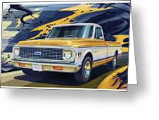 1971 Chevrolet C10 Cheyenne Fleetside 2wd Pickup Greeting Card