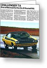 1971 Dodge Challenger T/a Greeting Card by Digital Repro Depot